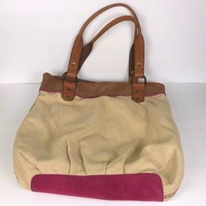 Lucky Brand Hobo Leather Shoulder Tote